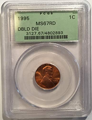 1995 Lincoln Memorial Cent Red Double Die Penny MS-67 PCGS ()