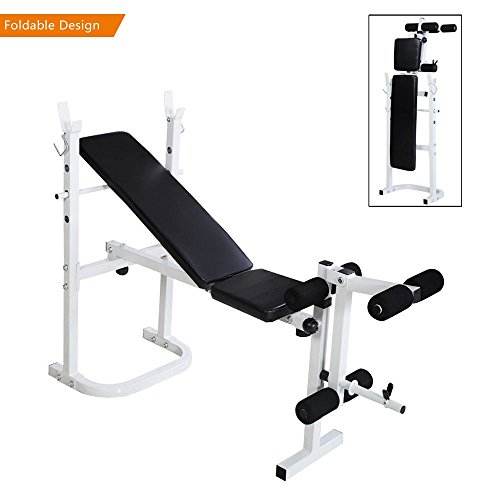 Bonnlo Upgraded Adjustable Bench Weight Bench Press for Body Workout Fitness, 660 LBS Capacity Workout Bench For Incline Decline Flat Exercise Training Black (Multi-function Weight Bench)