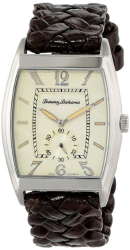 Tommy Bahama Swiss Men's TB1177 Islander II Custom Beveled Barrel Case with Sub Second Hand Watch, Watch Central