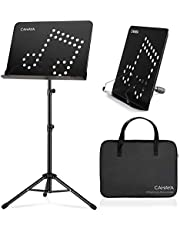 CAHAYA Sheet Music Stand Metal Portable with Carrying Bag