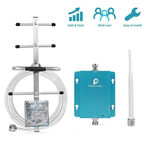 Cell Phone Signal Booster for Verizon AT&T 2G 3G Home and Office Use - Reduce Dropped Calls by 850MHz Band 5 Cellular Repeater Amplifer Kit with Whip/Yagi Antennas (Cell Phone Signal Booster Amplifier Repeater Gsm 850)