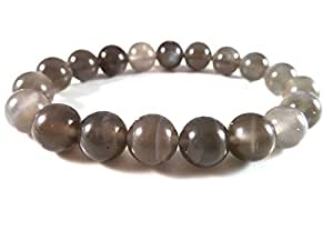 Amazon.com: JP_Beads Black Moonstone Stretch Bracelet 9 ...