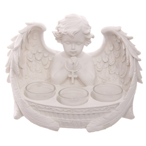 Puckator White Cherub 3 Tealight Holder