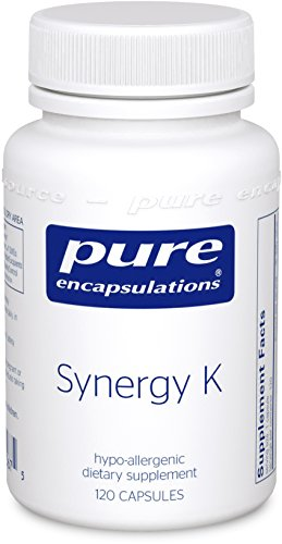 Pure Encapsulations - Synergy K - Hypoallergenic Formula with Vitamin K1, K2, and D3 for Bone and Arterial Health* - 120 Capsules by Pure Encapsulations