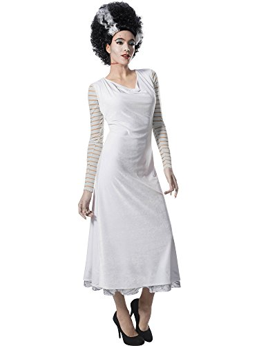 Rubie's Costume Co Women's Universal Monsters Bride of Frankenstein Costume Dress, As Shown, Medium