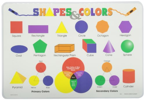 Painless Learning Shapes and Colors Placemat