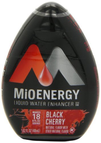 MiO Energy Liquid Water Enhancer, Black Cherry, 1.62 Ounce (Pack of 12) by Kraft [Foods]