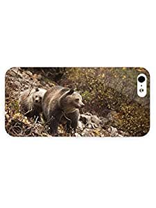 3d Full Wrap Case for iPhone 5/5s Animal Bears On The Mountain