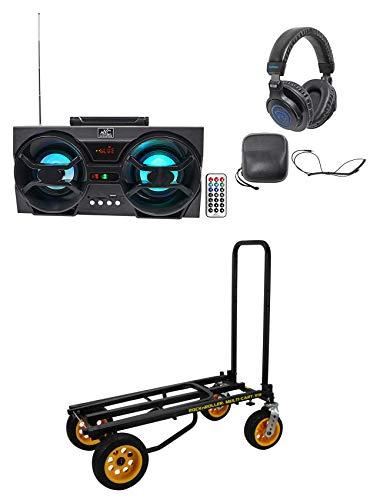 RocknRoller R18RT MultiCart R16 DJ PA 700 lb. Equipment Cart+Speaker+Headphones