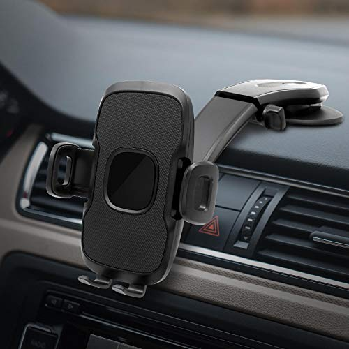 TDTOK Car Cell Phone Holder Dashboard Windshield Phone Mount Suction Cup Vehicle Universal Phone Stand Compatible with iPhone Xs/Max/X/XR/8/8 Plus,Samsung Note 9/ S10+/ S9/ S9+/ S8 and More
