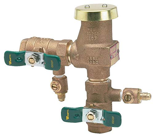 (Watts Anti-Siphon Backflow Preventer, Lead Free Brass, Watts 800 Series, FIP Connection - 3/4 LF 800M4QT3/4