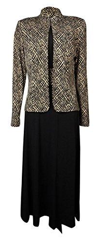 Jessica Howard Women's 2PC Lattice Print Jersey Dress Jacket Set