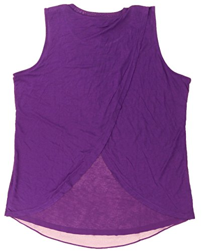 Ellen Tracy Sleeveless Knit Top with Back Overlay