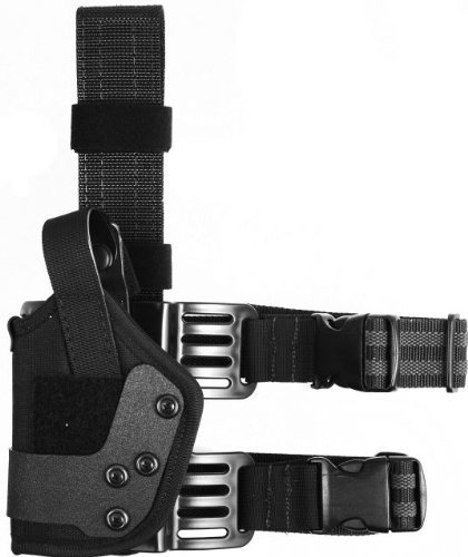 Uncle Mike's Law Enforcement Kodra Nylon Dual Retention Tactical Platform Drop-Leg Holster (Hand Tactical Retention Holster)