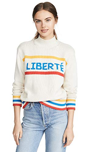 Chinti and Parker Women's Liberte Sweater, Cream/Royal for sale  Delivered anywhere in USA