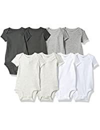Baby Boys' 8 Pack Short-Sleeve Bodysuits