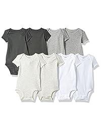 Carter's Unisex-Baby 8 Pack Short-Sleeve Bodysuits Bodysuit