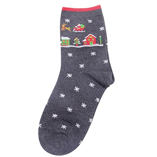 - Paymenow Unisex Cute Pattern Colorful Screw Socks Christmas Soft Novelty Warm Socks (Deep Gray)