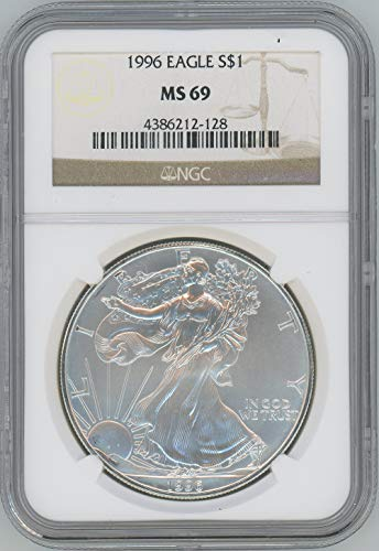 1996 American Silver Eagle $1 MS69 NGC