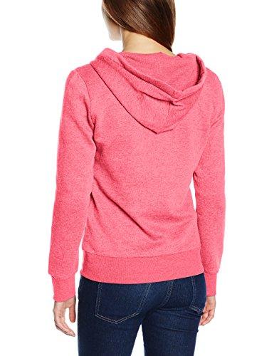Only Onlfinley Ls Zip Hood Noos, Chaqueta para Mujer Rosa (Calypso Coral Detail:W. MELANGE)