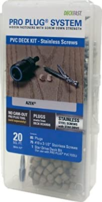 Pro Plug PVC Plugging System for AZEK Kona Decking - Stainless Steel - 75 pcs for 20 Sq. Ft.
