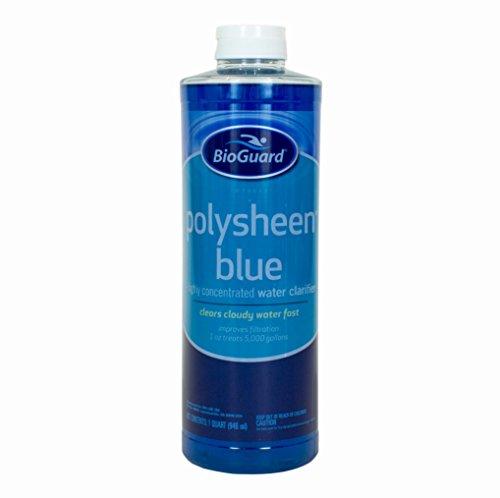 BioGuard Polysheen Blue Clarifier - Quart by (Swim Pool Water Clarifier)