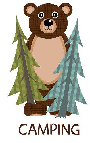 Camping Adventure Wilderness Room Decor - Bear Cardboard Standup (Cardboard Camp)