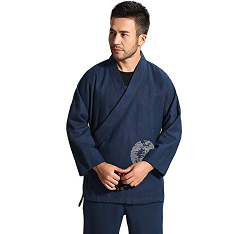 de Acvip Chaqueta hombre tradicional azul para manga larga WTgCgU6