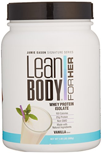Jamie Eason Signature Series Whey Protein Isolate, Lean Protein Powder for Women with Natural Ingredients & No Gluten or Lactose, Natural Vanilla 1.5 Pound