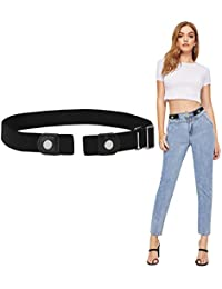 db7bba85e No Buckle Womens Belts SANSTHS Invisible Elastic Stretch Belt No Bulge No  Hassle