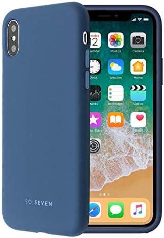 SO SEVEN - Carcasa para Apple iPhone X, Color Azul Marino: Amazon ...