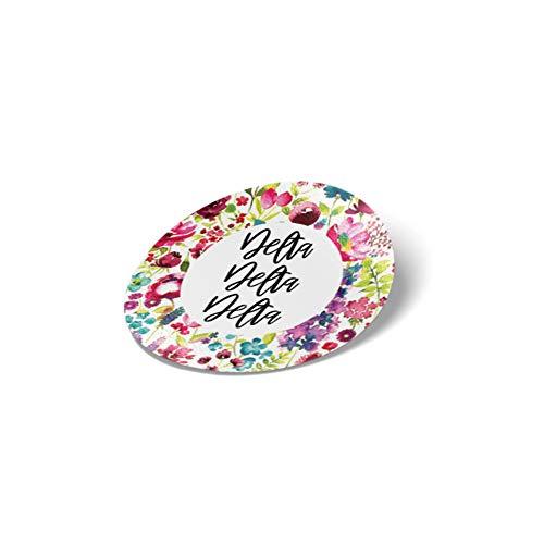 (Delta Delta Delta Sorority Water Color Flowers Floral Sticker Decal Laptop Water Bottle Car tri Delta (Circle))