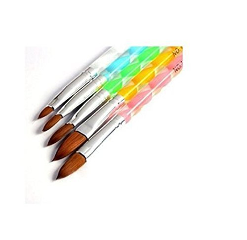 350buy 5pcs Acrylic Nail Art UV Gel Carving Pen Brush Liquid Powder DIY No. 4/6/8/10/12 (B) Grifri