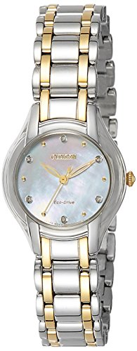 Citizen Eco-Drive CitizenLadies Analog Mother-of-Pearl Business Solar EM0284-51D