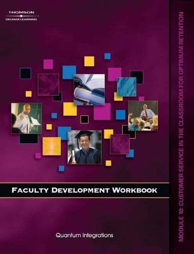 Workbook for Milady U Faculty Development: Module 10 Customer Service in the Classroom (Faculty Development Workbook)