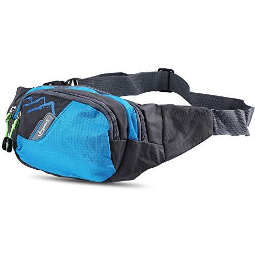 Sougayilang Fishing Bag Portable Outdoor Fishing Tackle Bags (Running Pocket Blue)