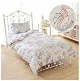 SANRIO Kikirara Little Twin Stars duvet cover, sheets, pillow case blue three-piece set Japanese-style