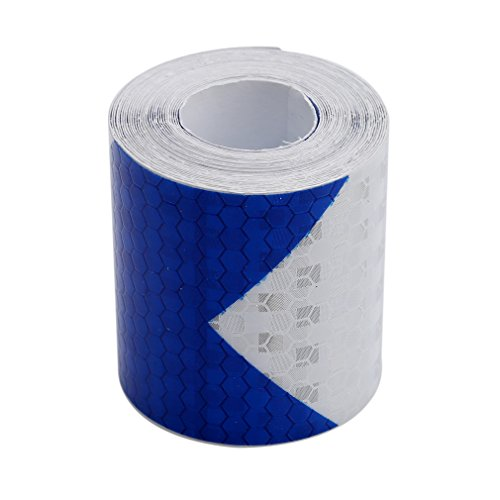 HS Night Reflective Safety Warning Conspicuity Tape Arrow Sticker W:5cm L:300cm (Blue White)