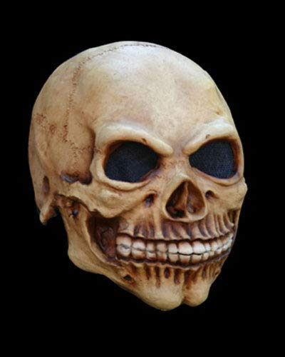 Kids Junior Skull Latex Mask Skeleton Halloween Spooky Creepy Scary