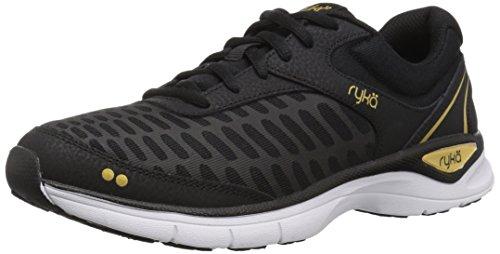 Ryka Women's RAE Walking Shoe, Black, 7.5 M US