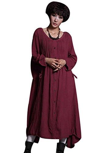 MatchLife - Vestido - vestido - para mujer Burdeos