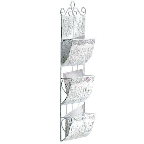 Vintage-Look Metal Tile Letter Organizer Metal Tile Letter Holder