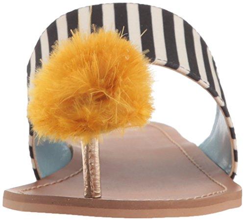 Sandalo Scorrevole Clementine San Valentino Nero / Giallo