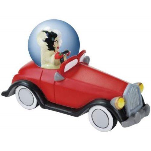 WL SS-WL-22852, 45mm 101 Dalmatians Menacing Cruella De Vil in Car Water Globe