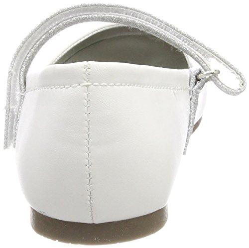 Indigo Mädchen 424 080 Geschlossene Ballerinas Weiß (WHITE PU)
