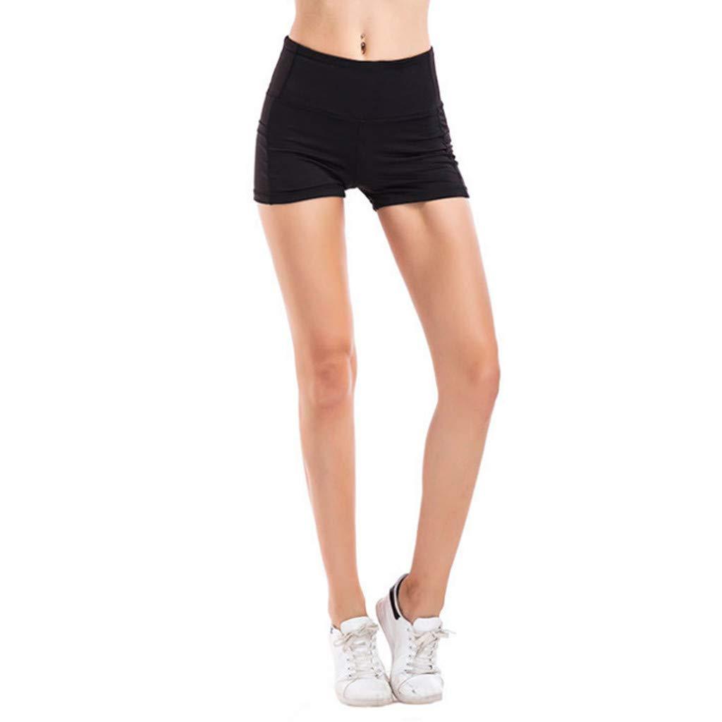 Amazon.com: Womens High Waist Yoga Short Abdomen Control ...