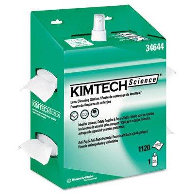Kimtech Science Kimwipes Lens - Kimtech 34644 KIMWIPES Lens Cleaning, 16oz Spray, 4 2/5 X 8 1/2, 1120 Wipes/Box (Case of 4)