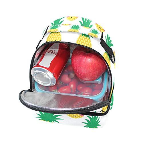 de Bolsa pincnic de de ajustable para correa sonriente la almuerzo hombro aislante escuela Alinlo para piña el con qFt11d