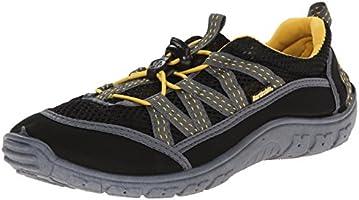 Northside Men 's brille II zapatos de agua, Negro/Amarillo, 8 D(M) US