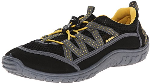 Northside Men's Brille II Slide Sandal, Black/Yellow, 11 M US